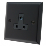 Spectrum Matt Black 2 & 5 Amp Plug Sockets